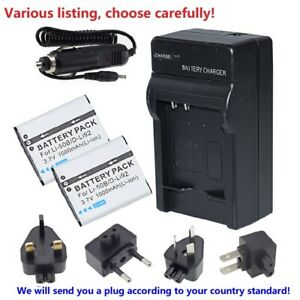 LI-50B Battery or AC charger For Olympus VR-340,VR-350,VR-370,XZ-1,XZ-10,VH-410
