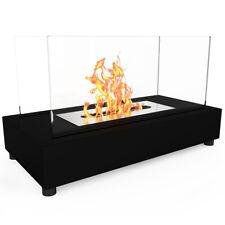 Regal Flame Avon Black Ventless Tabletop Portable Bio Ethanol Real Fireplace