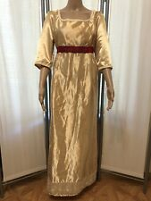 Gold Regency Ball Gown Dress Costume Jane Austen Suit Up To Size 14