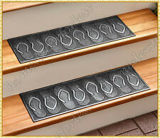 RUBBER STAIR STEP TREADS MATS FLIP FLOP DESIGN OUTDOOR PORCH TRACTION ~ CHOICES
