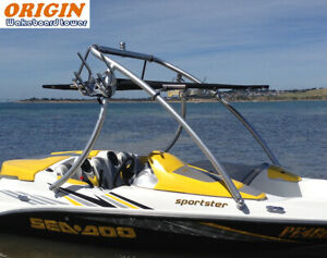 "Origin Advancer Boat Wakeboard Tower 2.25"" Tube Mirror Polished 5 Year Warranty"