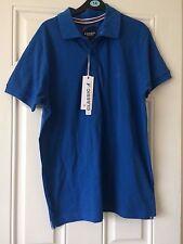 Kangol Classic Blue Polo Shirt Short Sleeve Casual Size Medium *NEW* B16
