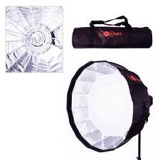 LuxLight 70cm Deep Parabolic Umbrella Softbox & Bag | Bowens Mount | Foldable
