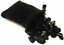 SHARING STONES - 2oz (85-95) OBSIDIAN XS Tumbled Crystals with Pouch & Card