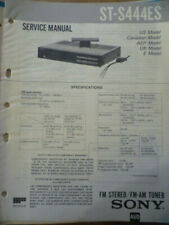 Sony ST-S444ES Stereo AM-FM Tuner Service Manual