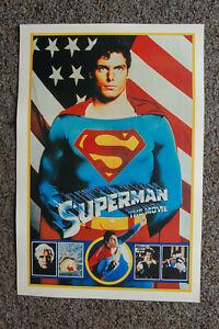 Superman The Movie Lobby Card Movie Poster Christopher Reeves__