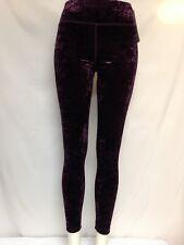Calvin Klein Performance High Waist Crushed Velvet Slimming Leggings Chianti NWT