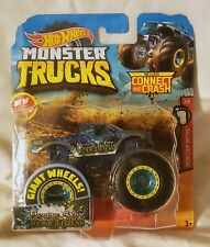 Hot Wheels Nessie Sary Roughness Monster Truck with Connect & Crash Car - NEW!