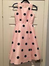 NWT Kate Spade Pink Polka Dot Dress 00