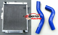 52mm RADIATOR+Blue Hose FOR Toyota Landcruiser HDJ78 HDJ79 HZJ78 HZJ79 1HZ 4.2L