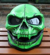 Motorcycle Helmet Skull Death Visor Flip Up Shield Ghost Rider Full Face