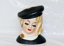 Vintage Inarco Head Vase Pearl Earring Black Dress Blonde Baret Marilyn Monroe