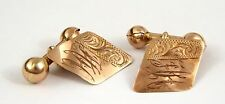 Vintage Pair of Art Deco 9ct Gold Cufflinks Monogrammed HH LAYBY AVAIL