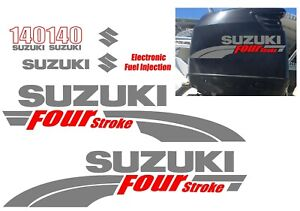 Suzuki 140hp FourStroke Outboard Decal Kit Replacement Decals REMIXB