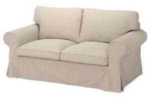 Brand New Ikea Cover for Ektorp 2 seat sofa in Hallarp Beige 805.035.68