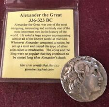 LYSIMACHOS Silver Tetradrachm Ancient Greek Coin ALEXANDER the GREAT XF