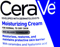 2X60ml cerave moisturizing cream for normal to dry skin repair & restore eczema