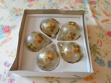LOT OF 5 HANDCRAFTED GLASS ORNAMENTS