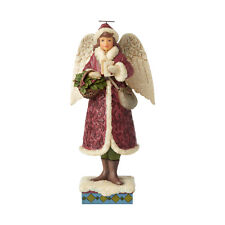Jim Shore Heartwood Creek 'Merry Messenger' Victorian Angel with Cards 6001429