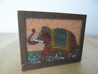 Vintage Elephant Wooden Trinket Box