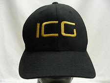 ICG - INTEGRA GOLD CORP - BLACK - L/XL FLEXFIT BALL CAP HAT