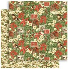 "Graphic 45 Winter Wonderland - YULE POST - 12x12"" Scrapbooking Paper - Christmas"