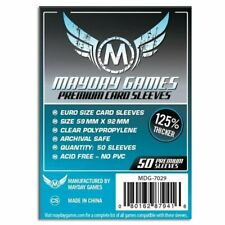 Mayday Premium Euro Card Sleeves Pack of 50 59 X 92 MM