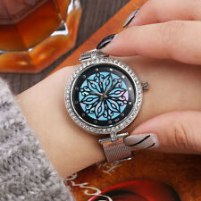 Women's Luxury Crystal Stainless Steel Mesh Band Dial Quartz Analog Wrist Watch