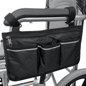 Outdoor Wheelchair Side Pouch Storage Bag  Armrest Pocket Organizer Holder Hot
