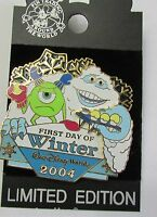 Disney WDW First Day of Winter Monsters Inc Pixar Pin