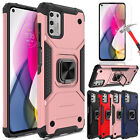 For Motorola Moto G Stylus 2021 Shockproof Ring Stand Case Cover/Tempered Glass