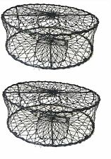 2-Pack of KUFA Sports Foldable Crab Trap with 3 Durable Stainless Steel Spring