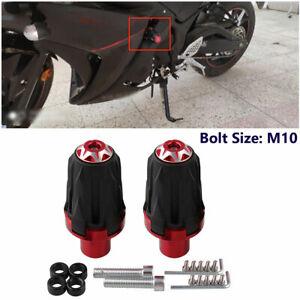 Pair Motorcycle Frame Slider Crash Protector For 10MM Sport Bike Off-road Bike