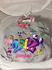 Walt Disney World Parks Gray Cotton Tote Gym Bag 2012 Mickey Minnie Goofy Pluto