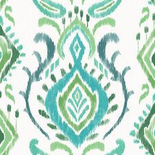 Rasch Papel pintado Cabana 148647 Ornamento Blanco Verde Papel de Pared Pintado