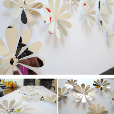 12x 3D Flowers Art Wall Sticker Decal Mural DIY Home Room Acrylic Decor Pretty H