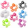 Pair Acrylic Snail Spiral Taper Ear Plug Flesh Tunnel Stretcher Expander Earring