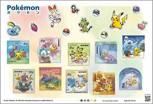 """Pokemon Stamp sheet 2021, Japan Post 84 yen"", Pokemon card"