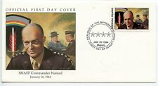 W67 1-1 History of World War II Marshall Is FDC SHAEF Eisenhower Commander