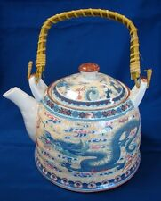 Chinese Teapot w/ Dragon Pictures