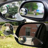 2 Espejo Retrovisor de Ángulo Punto Muerto Redondo Adhesivo Ajustable para Coche