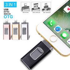 8GB~128GB USB Stick OTG USB Drive Flash 3in1 U-Disk Für Android Handy iPhone PC