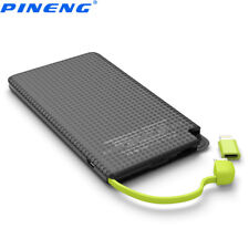 5000mAh Small Power Bank Universal Portable Charger With Built in Charging Cable