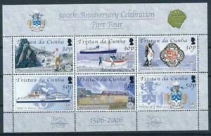 TRISTAN DA CUNHA, SC 790, 2006 500th Anniversary, part 4, souvenir sheet. MNH.