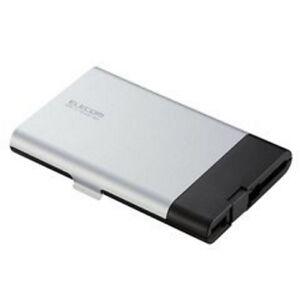Elecom Kartenleser Storage Schwarz silber USB mit Aufbewahrungsfach NEUWARE