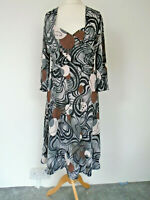 OCCO Paris Dress Size 5 UK 16/18 Crossover Jersey Geometric Smart Casual