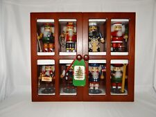 Nutcracker Display Case Featuring 8 Different Characters In Multicolor Costumes
