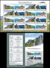 2018 South Korea Must-Visit Tourist Destinations for Koreans sheet (16 MNH)