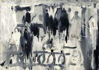 """Russischer Realist Expressionist Öl Leinwand """"Regen"""" 70x50 cm **"""