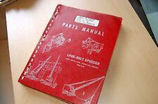FMC LINK BELT 200 Series Speeder Truck Crane Parts Manual Book catalog spare